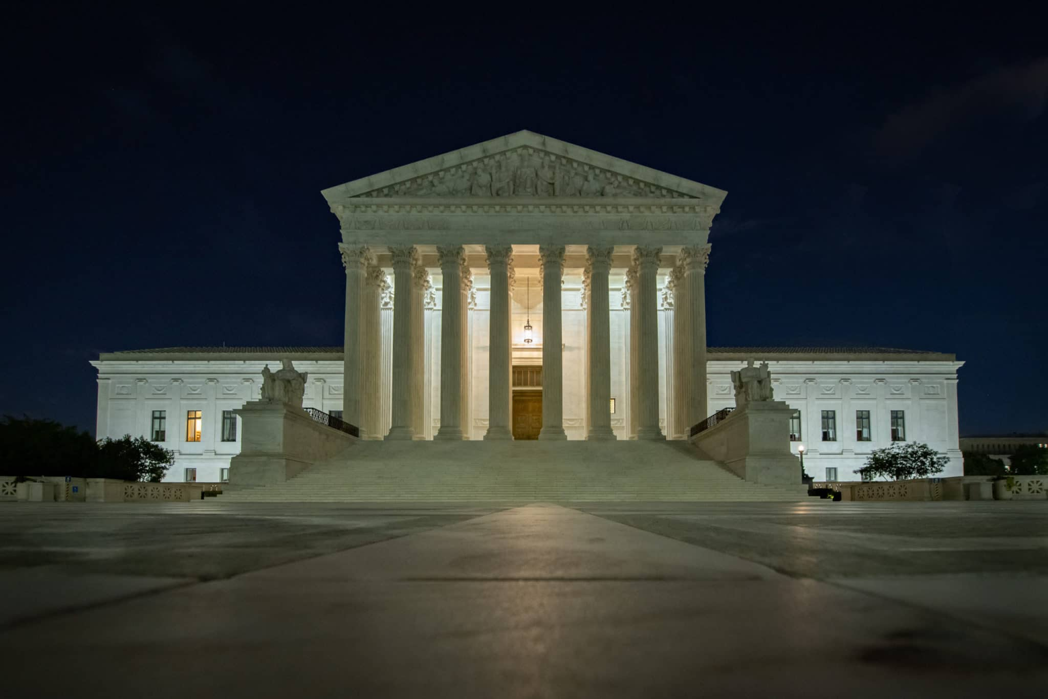 appeals process concept United States Supreme Court at Night